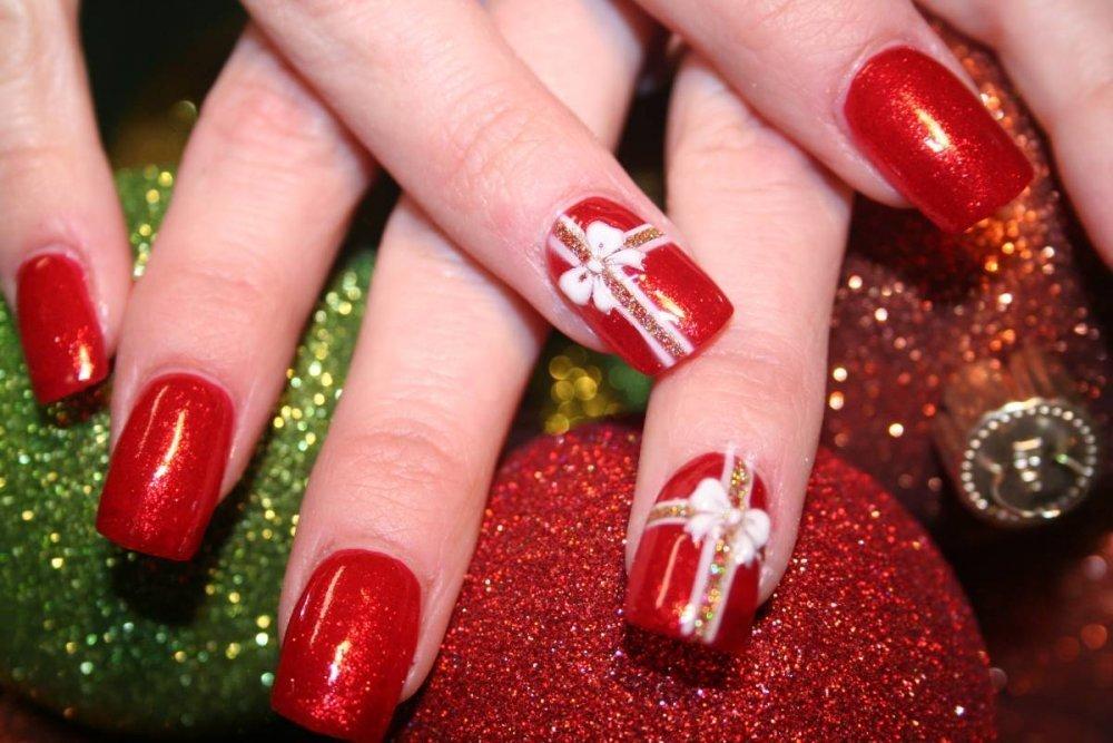 nail art natalizia semplici